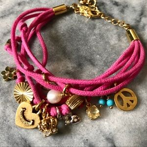 ✌🏼💖Juicy Couture Pink Charm Rope Bracelet 👑💍